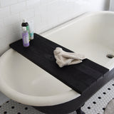 Pitch Black Bathtub Caddy