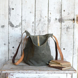 Antique Leather Gatherer Bag