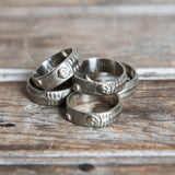 Till Death Us Do Part Ring – Merry Mishap in White Bronze
