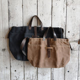 Antique Leather Large Waxed Canvas Tote
