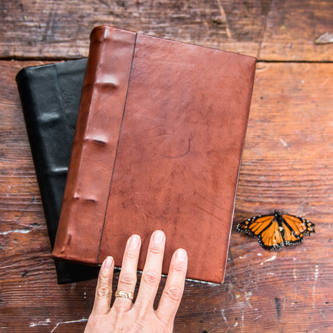 Small Hand-Bound Leather Tome