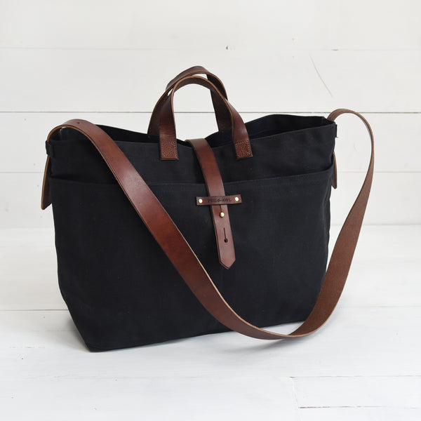 Large Waxed Canvas Tote
