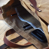 Waxed Canvas Tote without Zipper