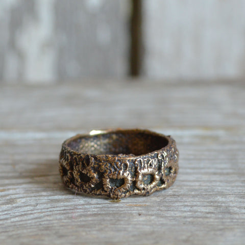 Victorian Lace Ring, No. 3 in Bronze