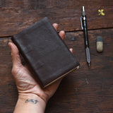 Hand-Bound Leather Journal in Vintage Brown