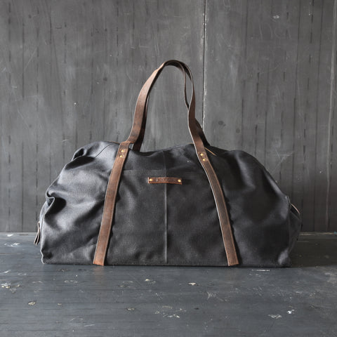 Antique Leather Weekender
