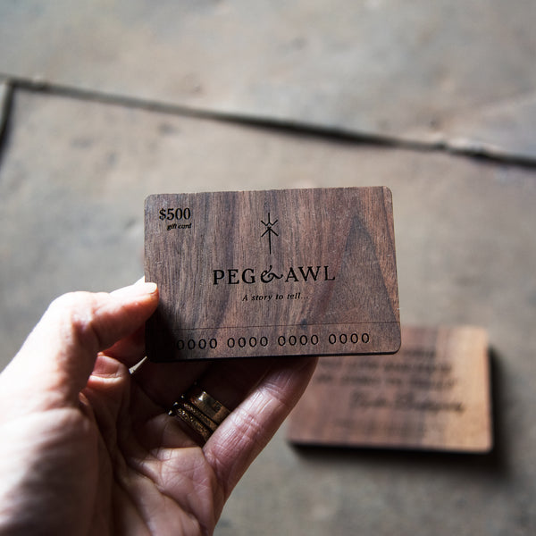 Laser Engraved Gift Card