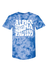 Royal Blue Tie Dye Tee