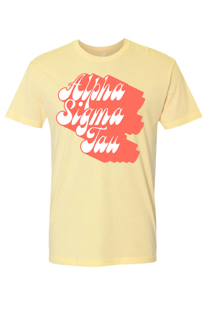 Banana Cream Shadow Script Tee