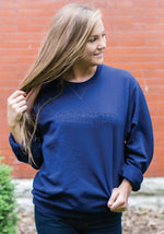Navy Tone on Tone Sweatshirt