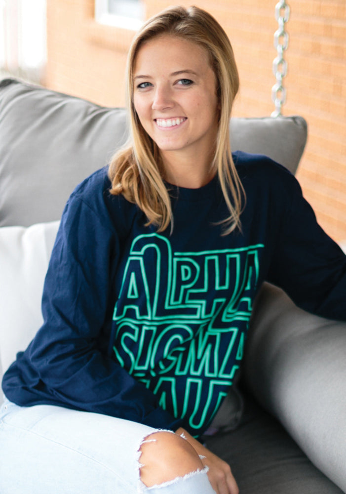 Long Sleeve Navy Shirt