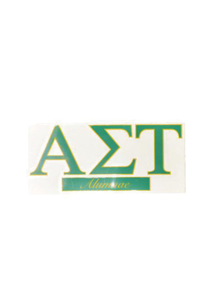 Emerald and Gold Alumna Decal