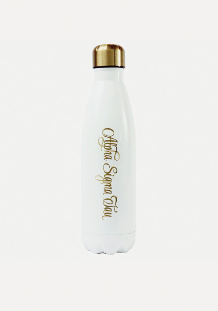 White and Gold Water Bottle