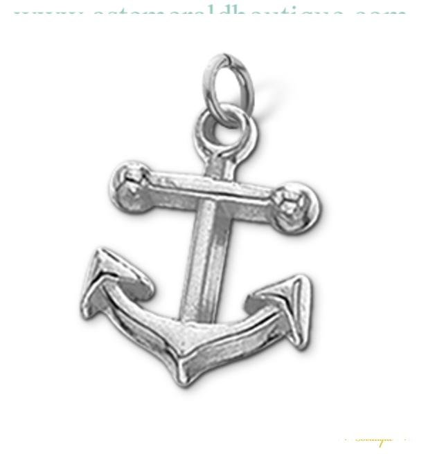 Sterling Silver Small Anchor Charm
