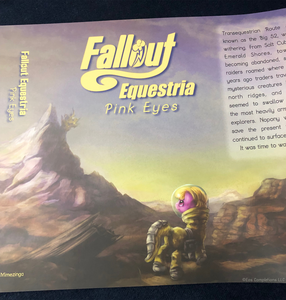 Fallout Equestria Pink Eyes 1st Edition Dust Jacket