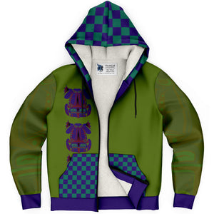 Frog Fleece Lined Hoodie in Green