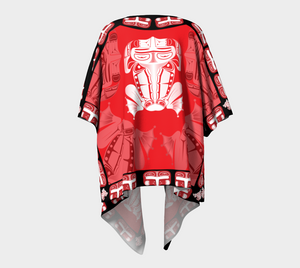 Frog Draped Wrap in Red