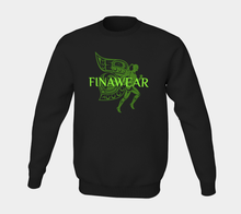 Load image into Gallery viewer, Finawear Crewneck Sweatshirt - Neon Green Lettering