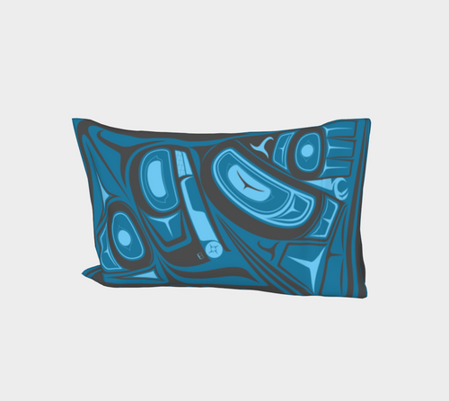 Raven Blue Pillow Case