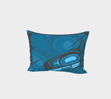 Load image into Gallery viewer, Raven Pillow Sham Right Blue