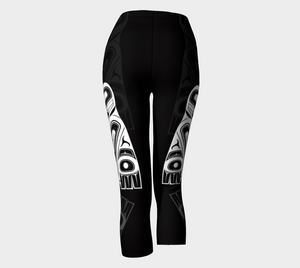 Raven Shadow Black Capri