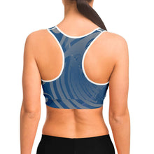 Load image into Gallery viewer, Wings Blue Sportsbra