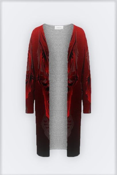 Feather 3D Red Duster Cardigan
