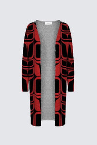 Form Red Duster Cardigan