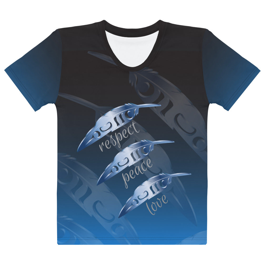 Feather Blue 3D Women's T-shirt