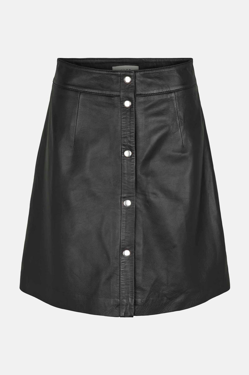Afina leather skirt