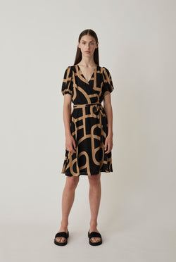 Leyla wrap dress