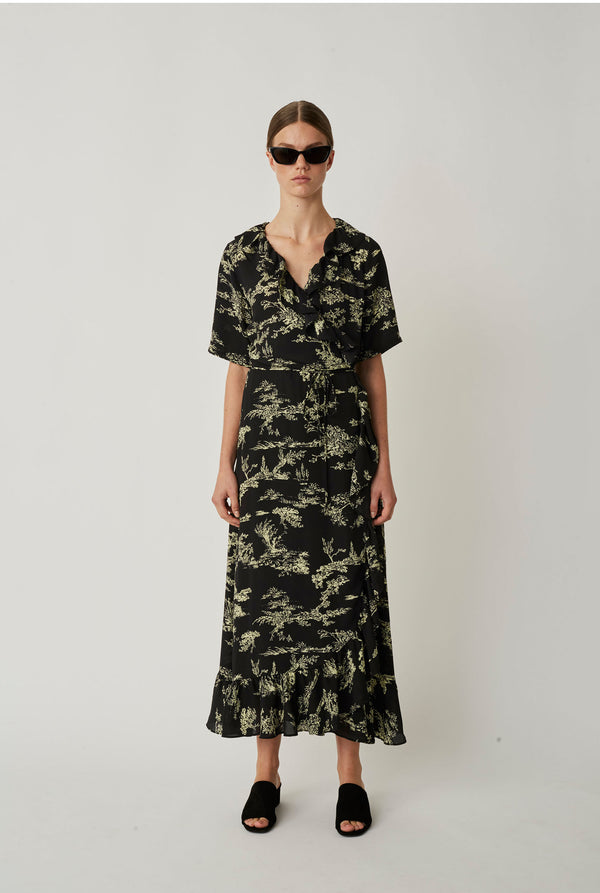 Mako maxi wrap dress