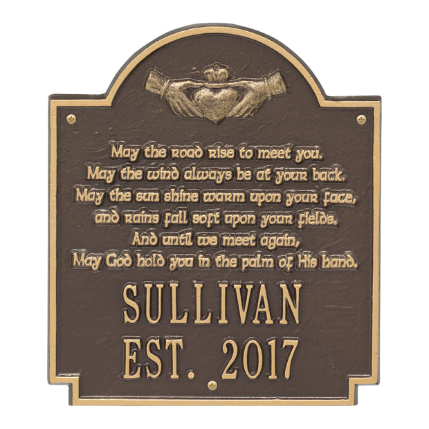 Personalized Claddagh Poem Plaque