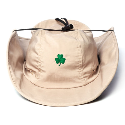 Bungee Cord Hat with Shamrock