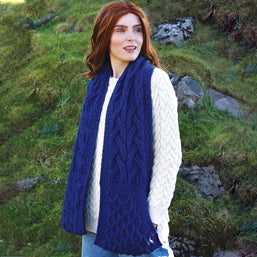 Super Soft Navy Pocket Scarf