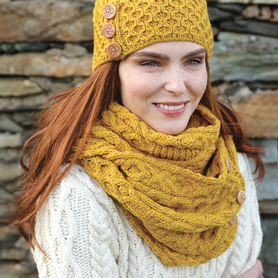Irish Wool Mustard Snood