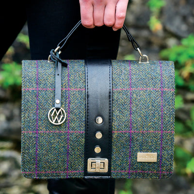 Purple Tweed Handbag