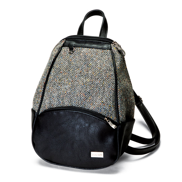 Black Tweed Backpack