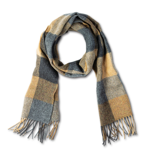 Checked Lambswool Scarf