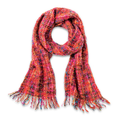 Coral Mohair Scarf