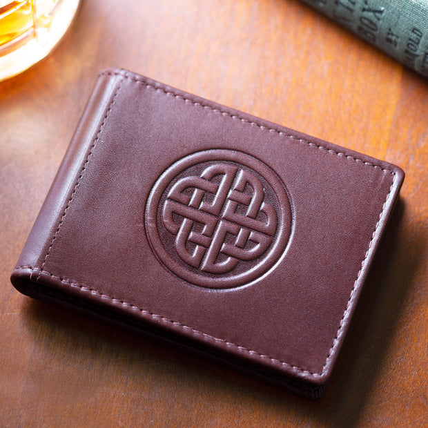 Celtic Knot Clip Wallet