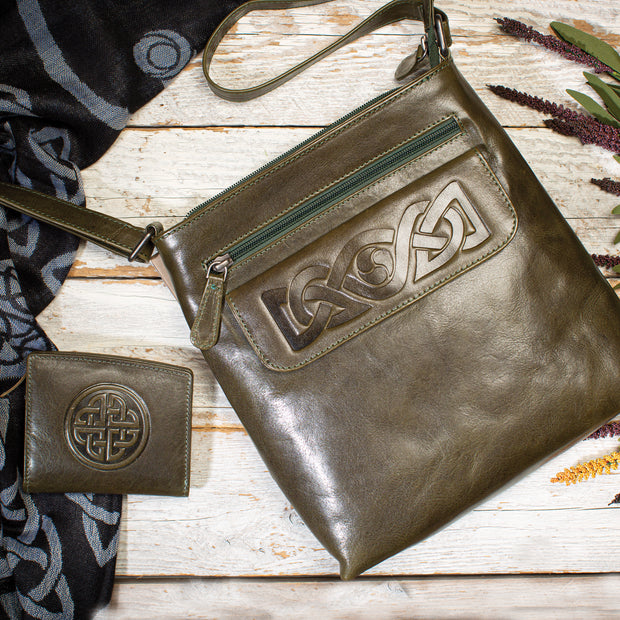 Celtic Crossbody Leather Bag
