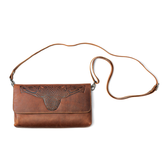Celtic Leather Clutch