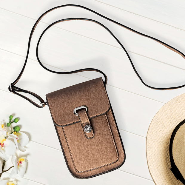 Taupe Mobile Crossbody