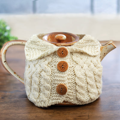 Aran Knit Cardigan Teapot Holder