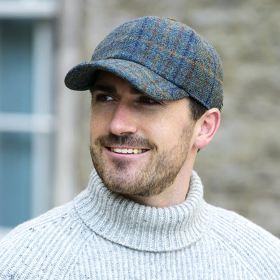 Blue Plaid Baseball Cap