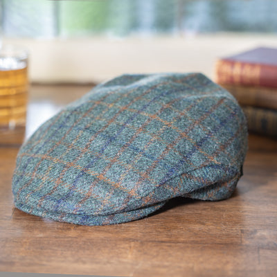 Blue Plaid Trinity Cap