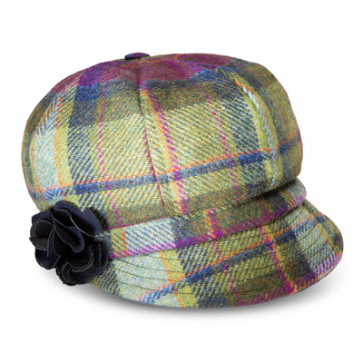 Purple Plaid Newsboy