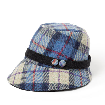 Blue Plaid Clodagh Hat