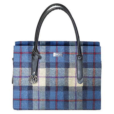 Blue Plaid Aoite Bag